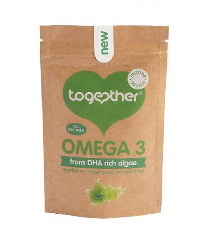 Омега 3 DHA от водорасли Together Health 30 меки капсули
