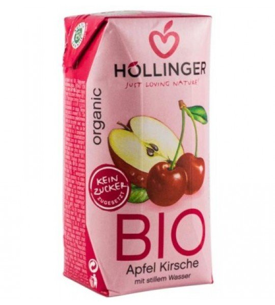 Био Сок ябълка и вишна Hollinger 200 ml