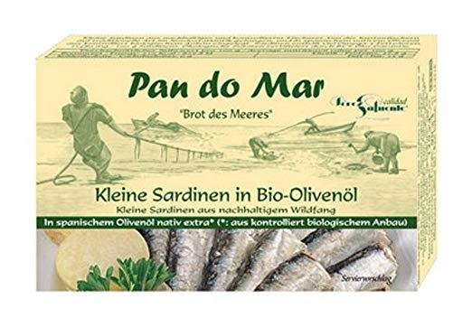 Сардини- малки в био масло от маслини, 120г. Pan do Mar
