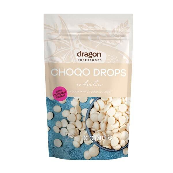 "Био Капки ""бял"" шоколад, 250г. Dragon Superfoods"